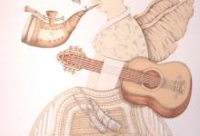 el-angel-de-musica-toca-a-danae-serigrafia